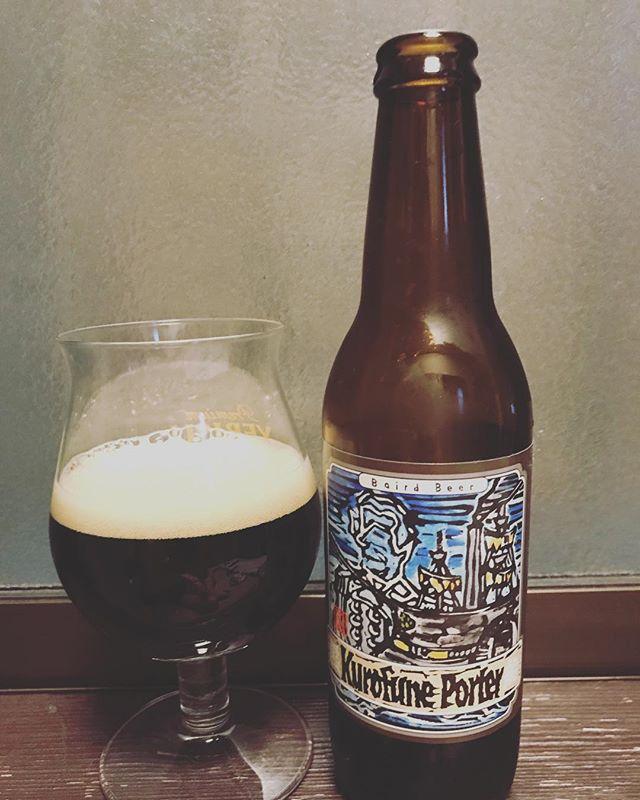 今夜は黒船ポーター!とってもローストな感じー!#beer #黒ビール #黒船ポーター #黒船 #ビール #ベアードブルーイング