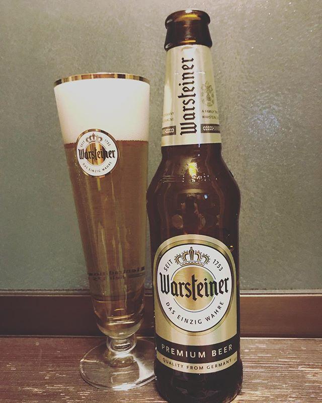 今夜のビールはヴァルシュタイナー!#ドイツ #ビール #ビール好きと繋がりたい #beer #warsteiner #ドイツ #ドイツビール