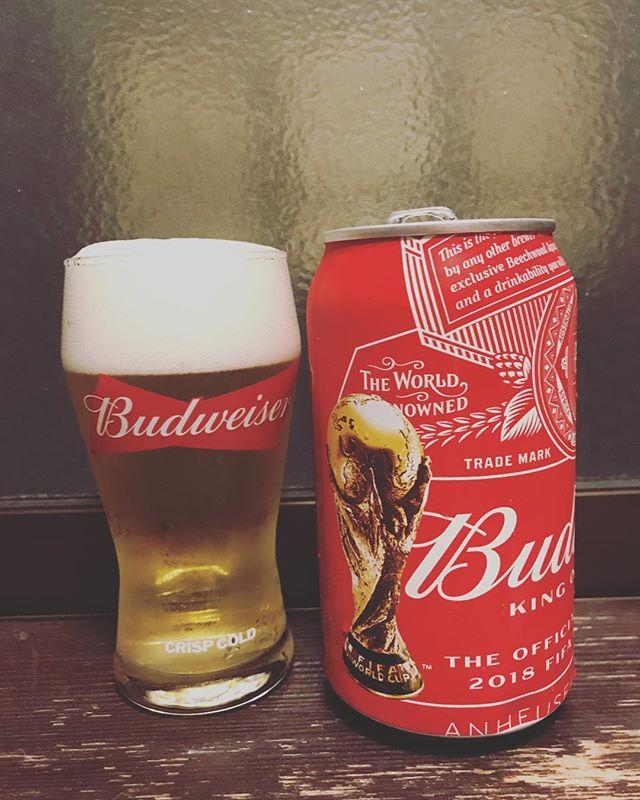 ワールドカップまで後1ヶ月!#beer #budweiser #worldcup #soccer #football #ワールドカップ #サッカー #バドワイザー